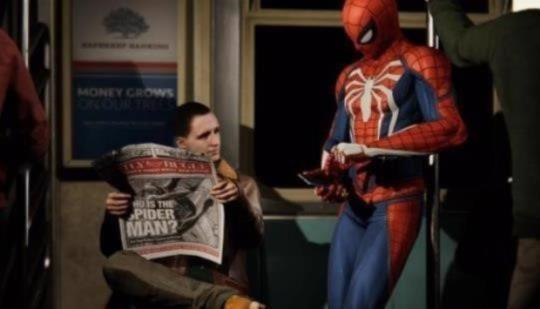 Spiderman open world game PS4