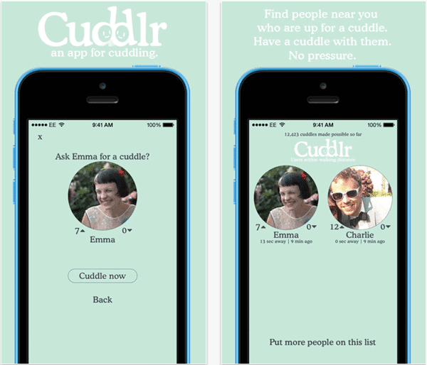 Cuddlr mobile application