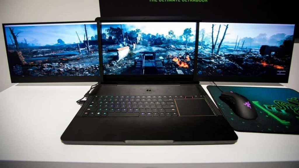 Display gaming laptop