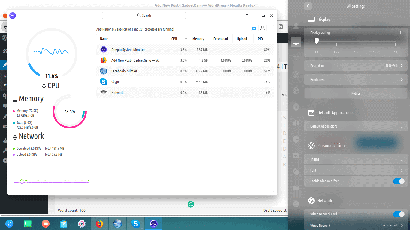 Deepin Performance
