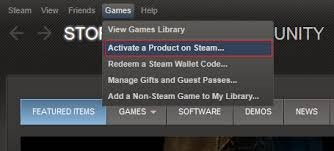 Activate steam product in app