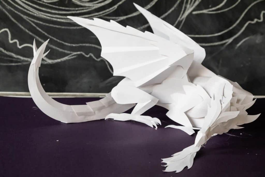 Game of thrones paper dragon