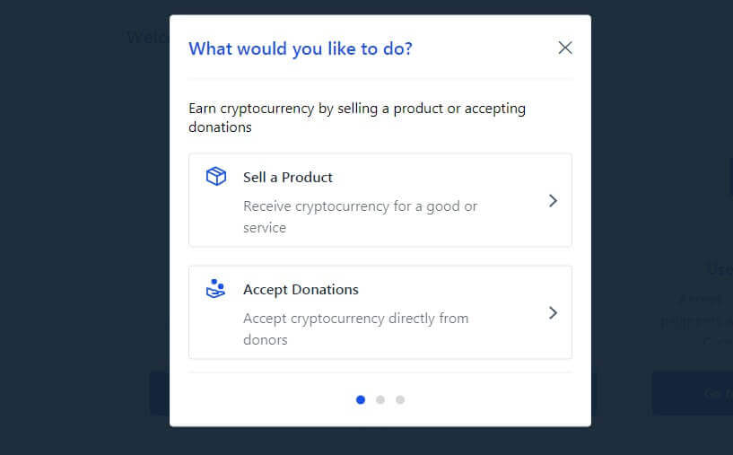 Create Coinbase Button