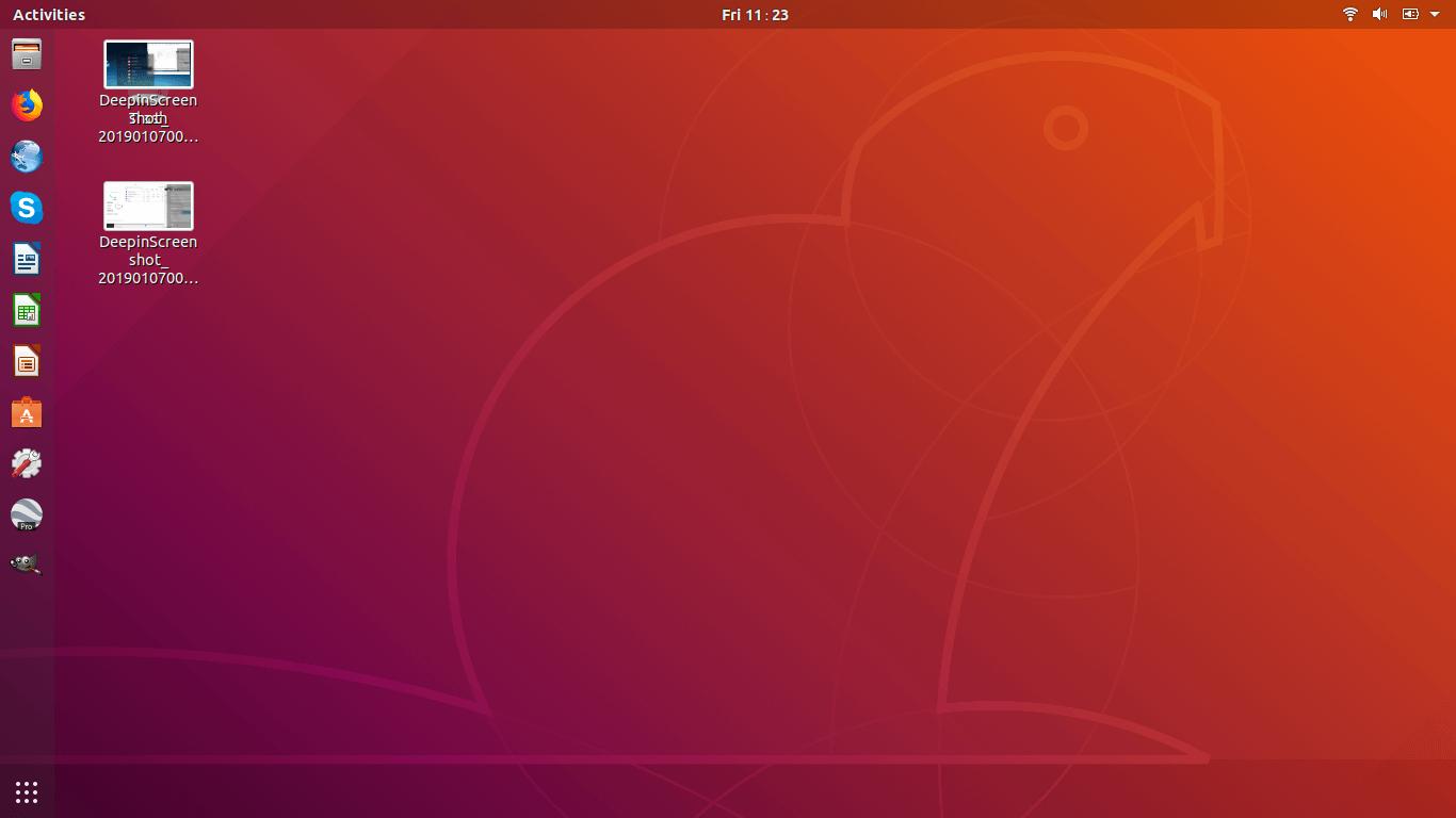 Ubuntu 18.04 LTS desktop