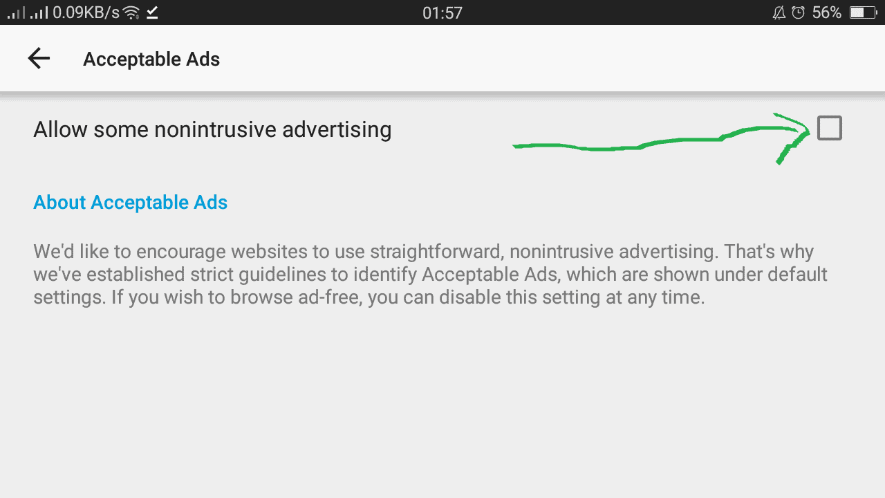 Block non-intrusive ads