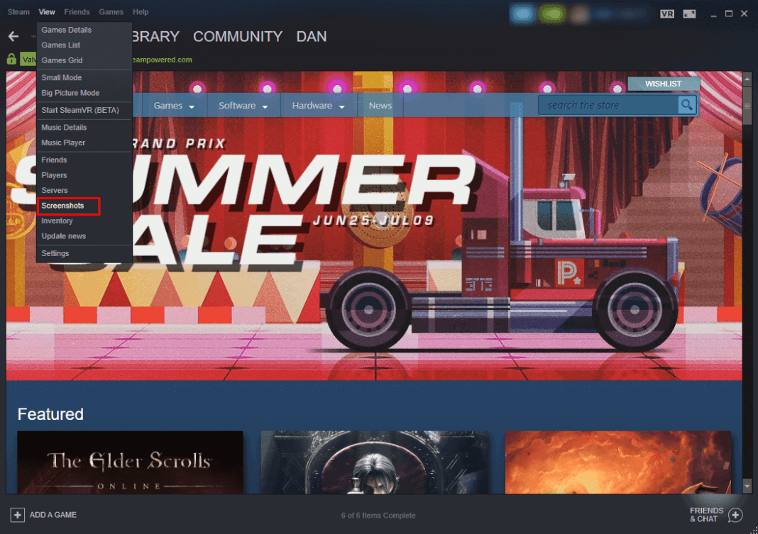 how to find your steam screenshots folder