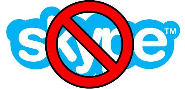delete skype