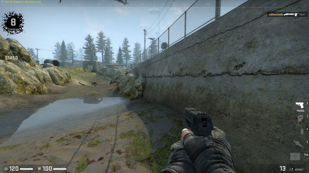 CSGO Danger Zone Gameplay view