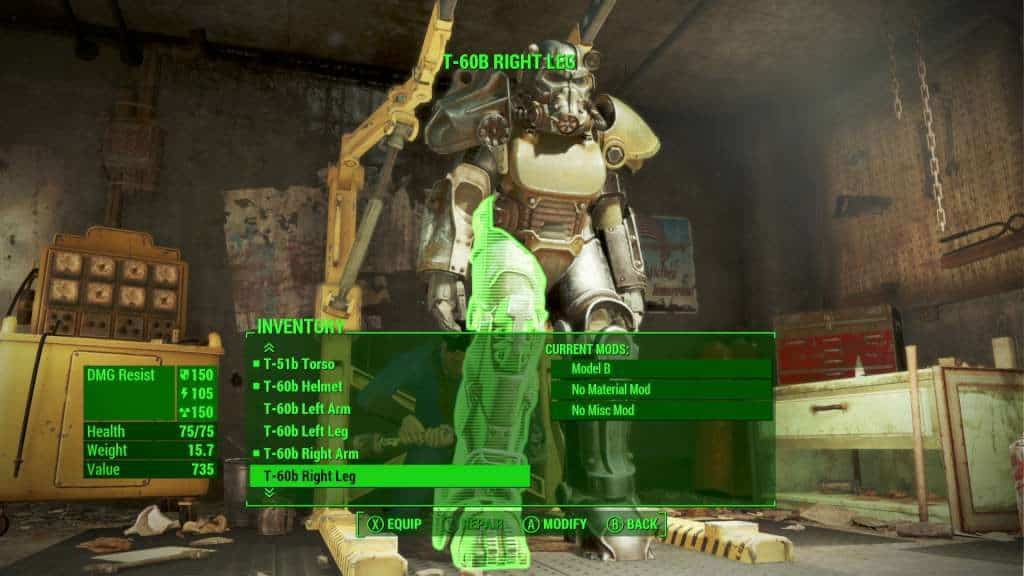 Fallout 4 power armor customization
