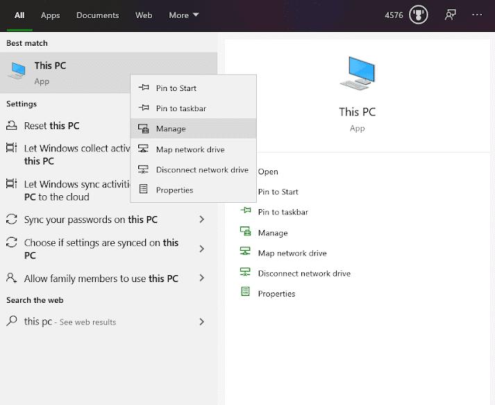 Formatting a USB drive for Windows Installation