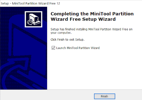 MiniTool Partition Wizard for installing windows onto an SSD
